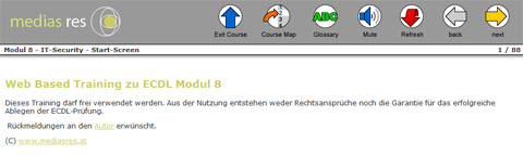webbased training zu Modul 8 ECDL